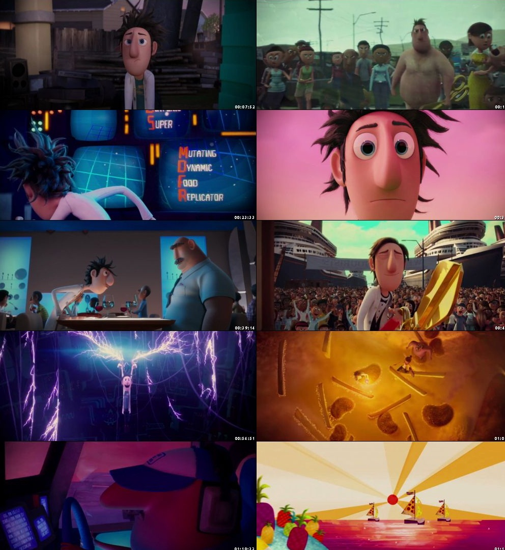 Cloudy With A Chance Of Meatballs 2009 300MB BluRay Hindi Dubbed 480p