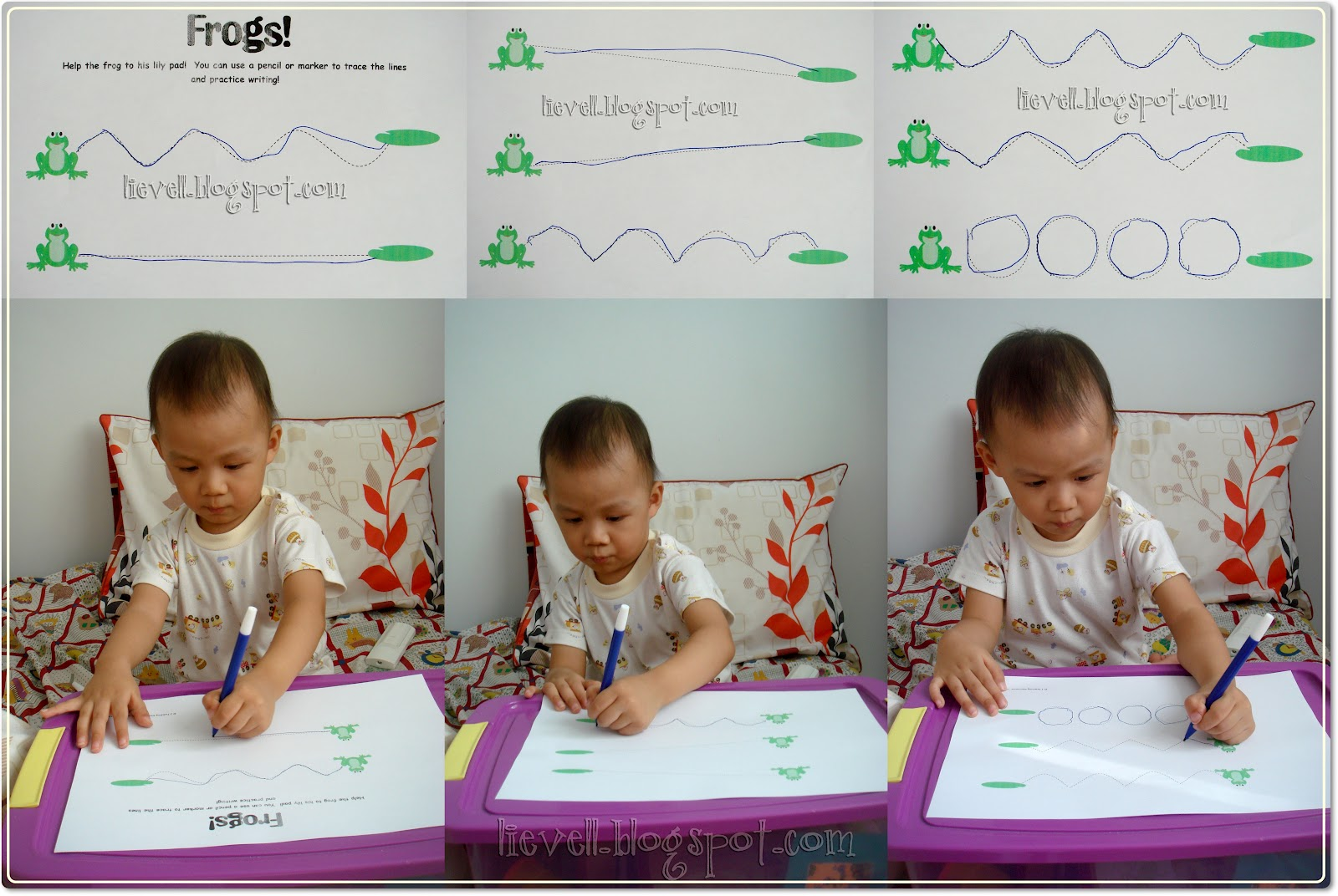 Preschool Letter F And Frog