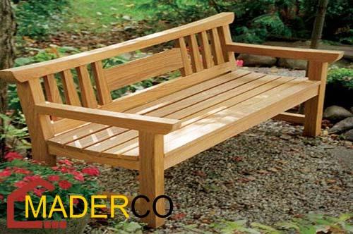 Dise os de bancas para iglesias maderco peru for Astillas de madera para jardin