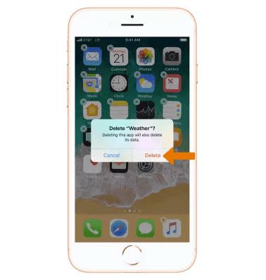 كيفية حذف التطبيقات فى iPhone 8 / 8 Plus