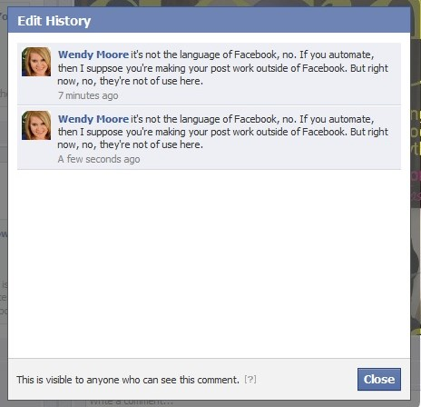 how to edit a comment on facebook wall