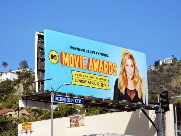 Amy Schumer MTV Movie Awards billboard