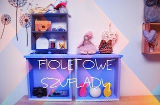 Fioletowe szuflady