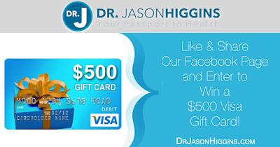 Dr. Jason Higgins $500 Visa Giveaway