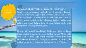 Makalah - Sejarah Dinasti Aghlabiyah