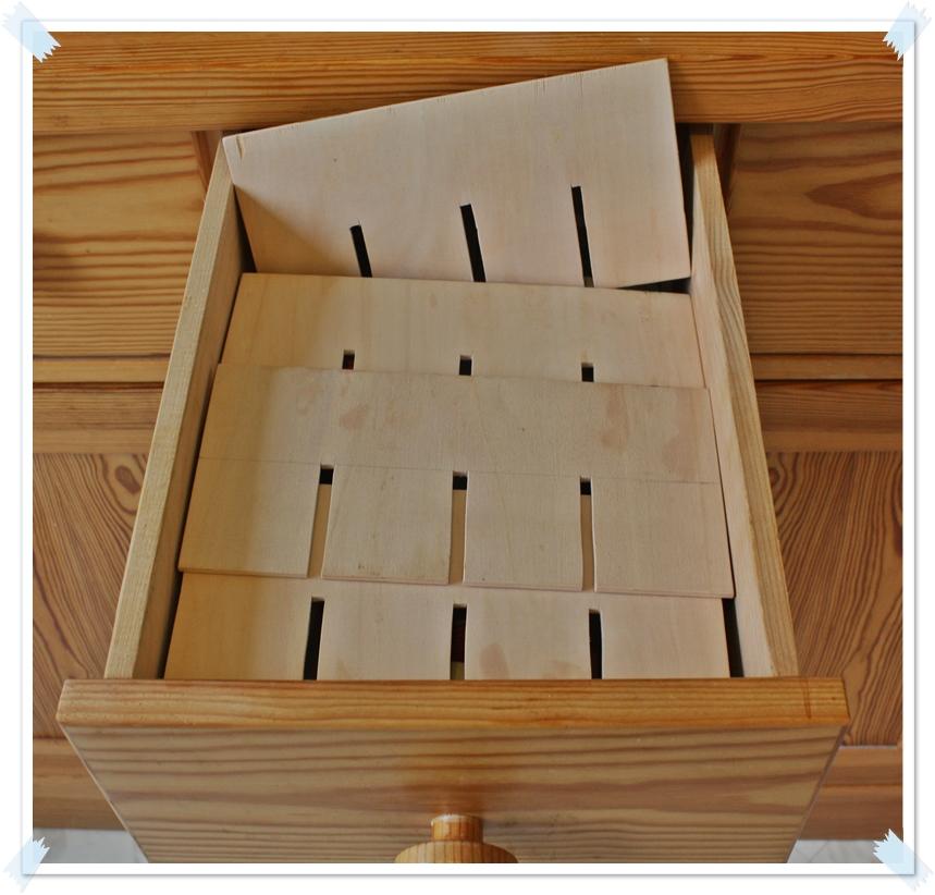 lotterst bchen d i y ordnung in der schublade. Black Bedroom Furniture Sets. Home Design Ideas
