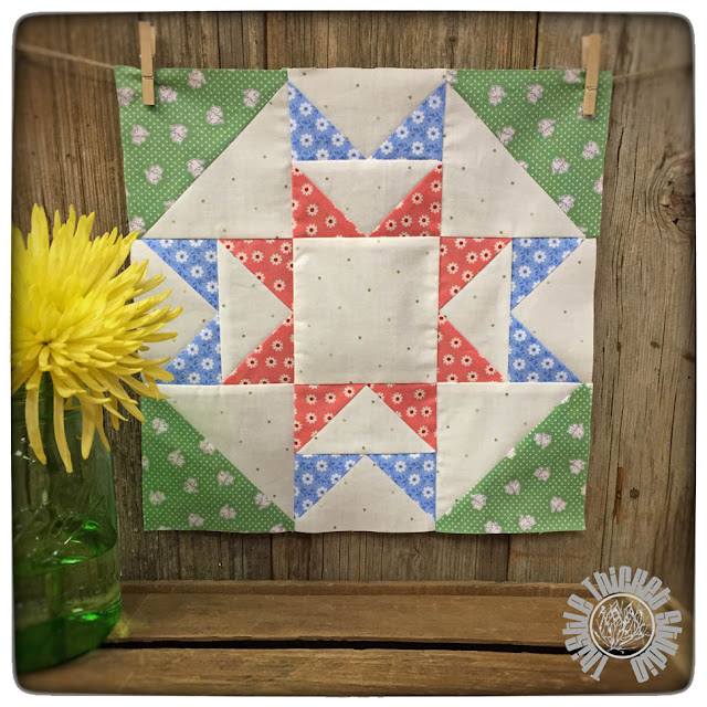 """Water turn Block from the book """"Farm Girl Vintage"""" by Lori Holt and sewn by Thistle Thicket Studio"""