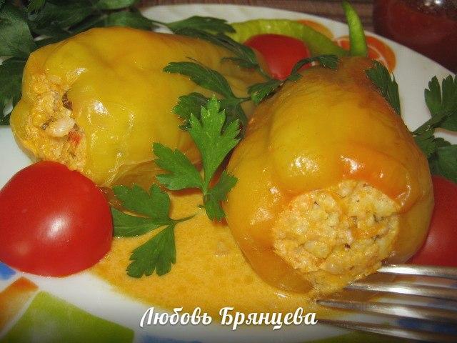 вкусный фаршированный перец рецепт с фото