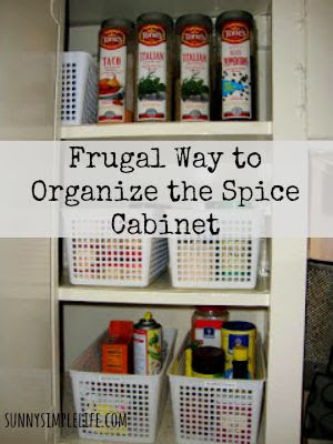 organized spice bottle, spice cabinet