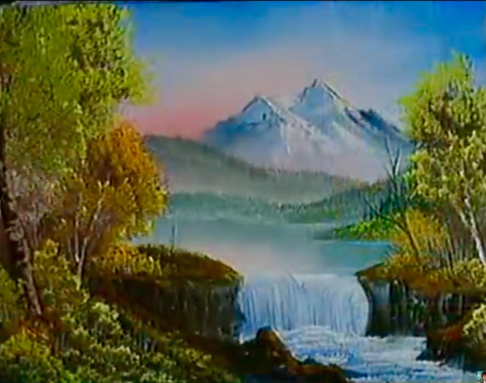 Sea Dean - Paint a Masterpiece: Mountain Waterfall - Bob