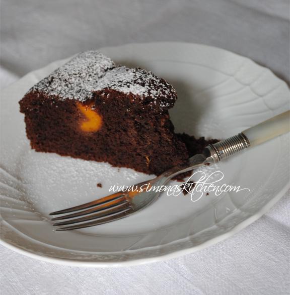 torta cioccolato e albicocche