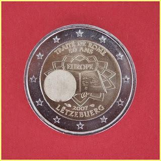 2 Euros Luxemburgo 2007 Tratado Roma