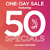 Kohls.com:  50% off specials one day only (7/18)