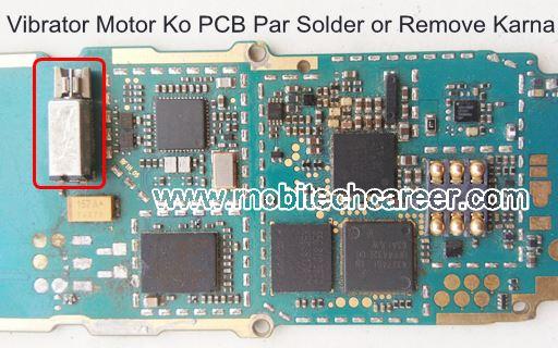 मोबाइल फोन रिपेयरिंग में Mobile Cell Phone PCB पर Vibrator Motor  को Solder और Remove करके मोबाइल फोन रिपेयर कैसे करें
