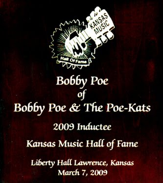 Kansas Music Hall Of Fame Induction Plaque!