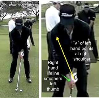 Adam Scott golf swing proper grip right hand