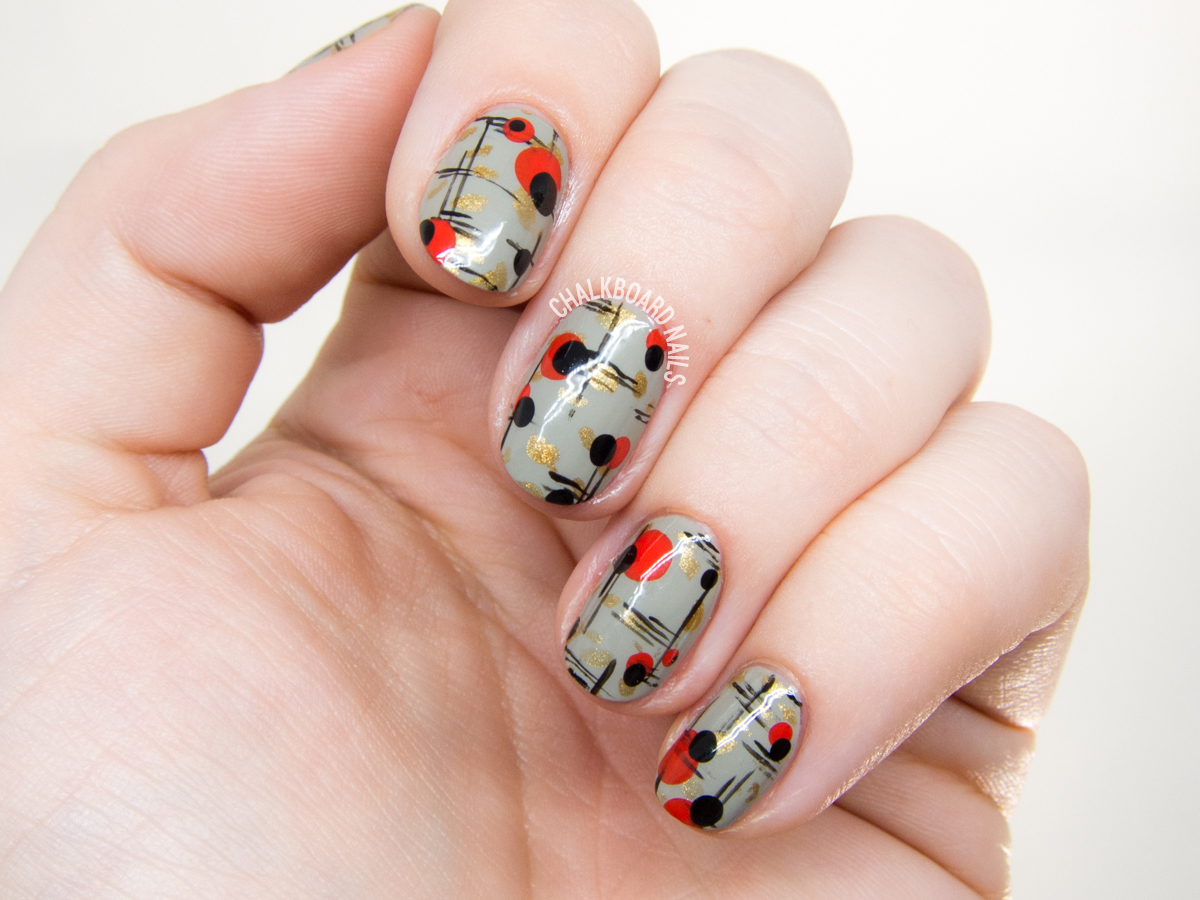 Mid Century Modern Nail Art | Chalkboard Nails | Nail Art Blog