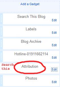 remove blogger link