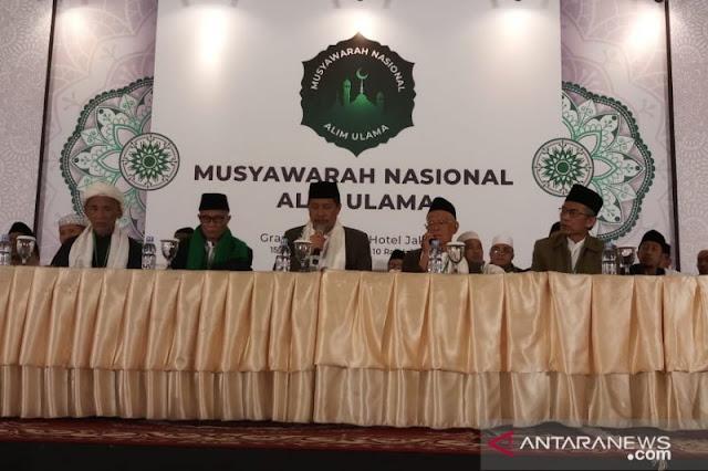 Musyawarah Nasional Alim Ulama putuskan dukung Jokowi-KH Ma'ruf Amin