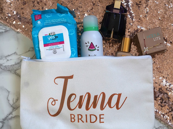 Hen Party Prep | Makeup Bag & White Dress