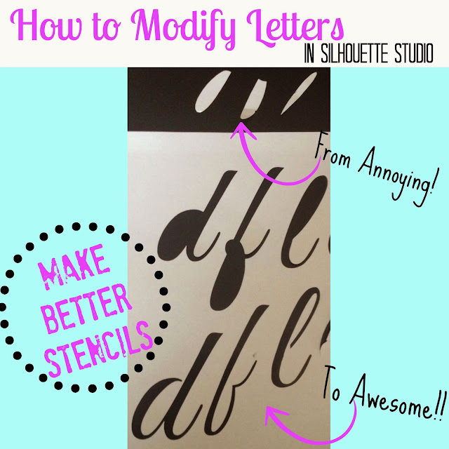 Modify fonts, Silhouette tutorial, Silhouette Studio, silhouette 101, silhouette america blog