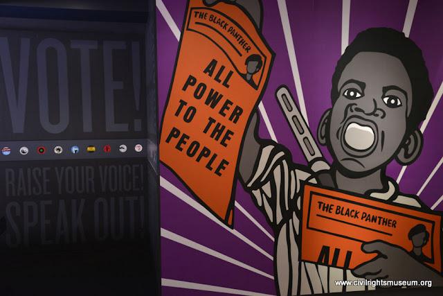 Os Panteras Negras no Museu Nacional dos Direitos Civis