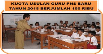 Kuota Usulan Guru PNS Baru Berjumlah 100 Ribu untuk Honorer dan Umum Tahun 2018