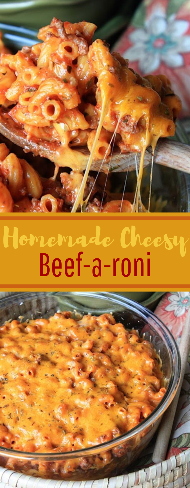 Homemade Cheesy Beef-a-roni with Barilla #comfortfood #delicious
