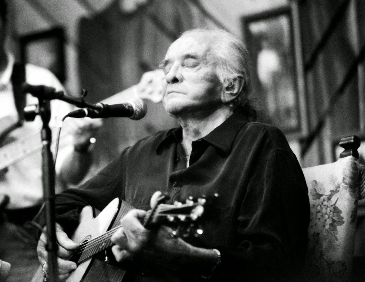 Johnny Cash en una de sus últimas actuaciones