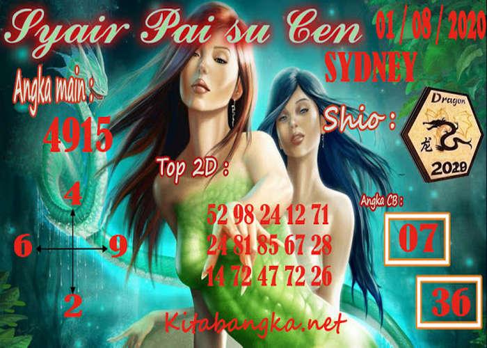 Kode syair Sydney Sabtu 1 Agustus 2020 139