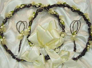 Greek wedding stefana crowns with natural elements N336