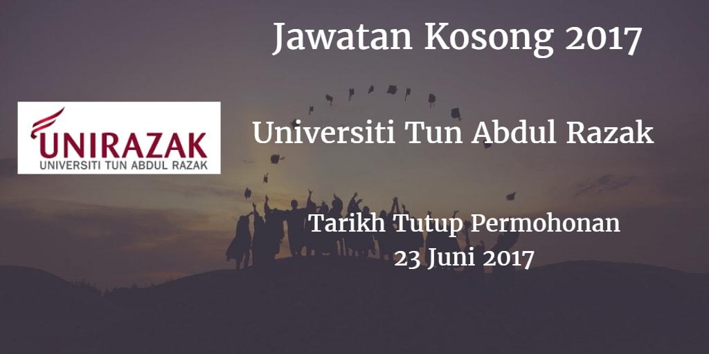 Jawatan Kosong UNIRAZAK 23 Juni 2017