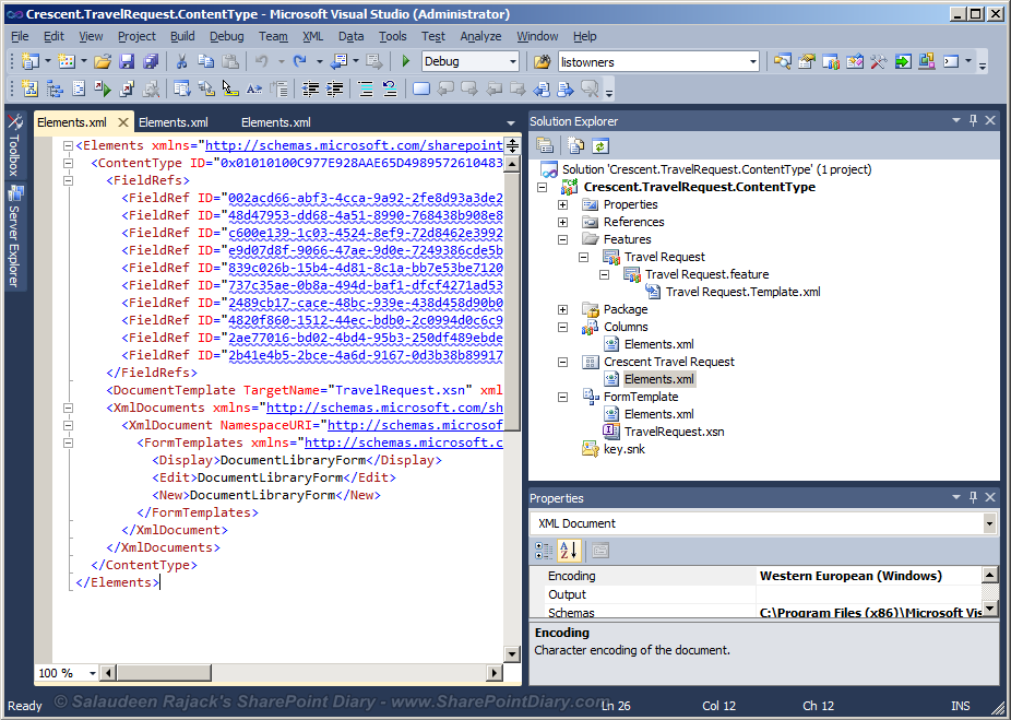 sharepoint 2010 content type feature
