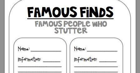 headlinesandmore: Famous Finds: Famous People Who Stutter