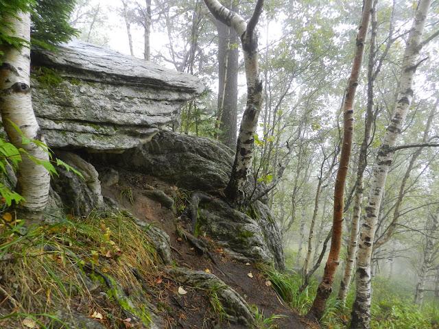 Скальные выступы на пути к вершине Двуглавой сопки