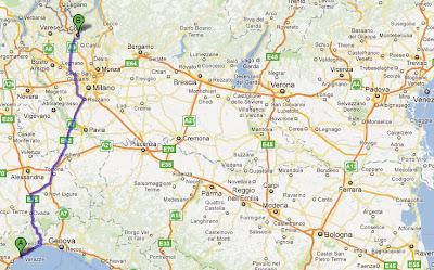 Karta Nord Italien.Karta Norra Italien