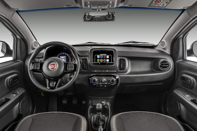 Fiat Mobi Drive - interior - painel