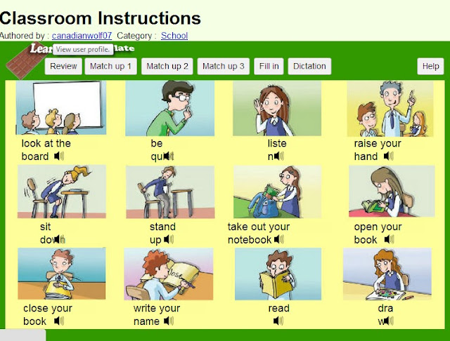 Classroom instructions worksheets.