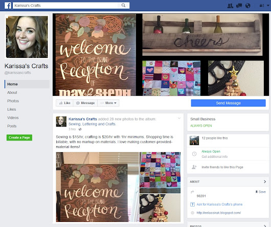 Facebook Page for Crafting Projects
