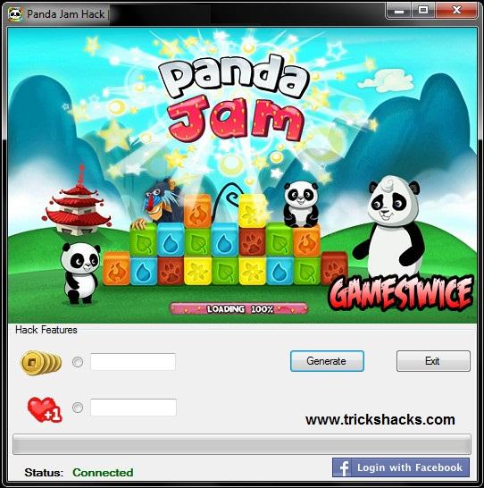 THIS IS PANDA JAM HACK CHEAT TOOL 2013 [ANDROID/iOS]  SCREENSHOT