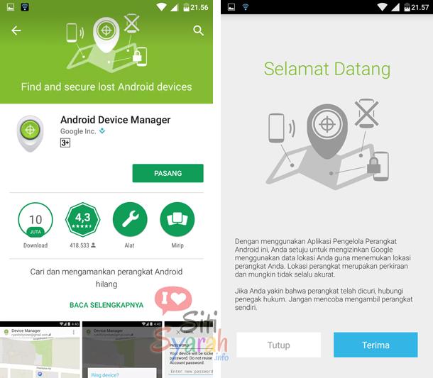 android device manager tidak berfungsi
