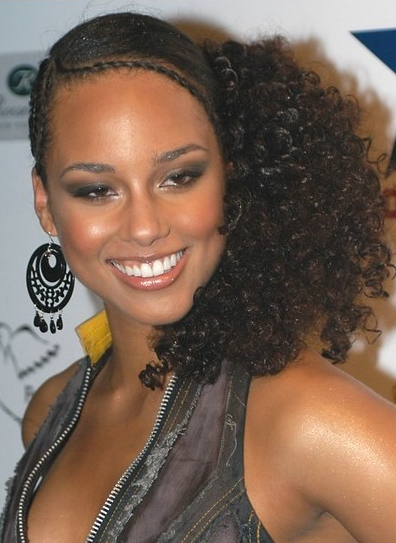 Terrific Back To Cornrow Styles From Alicia Keys Cornrows Hairstyle Inspiration Daily Dogsangcom