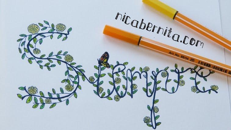 Dibujos Para Decorar Hojas Para Nios: Doodle Art: LETRAS DECORADAS Con Flores 🌸 Personaliza