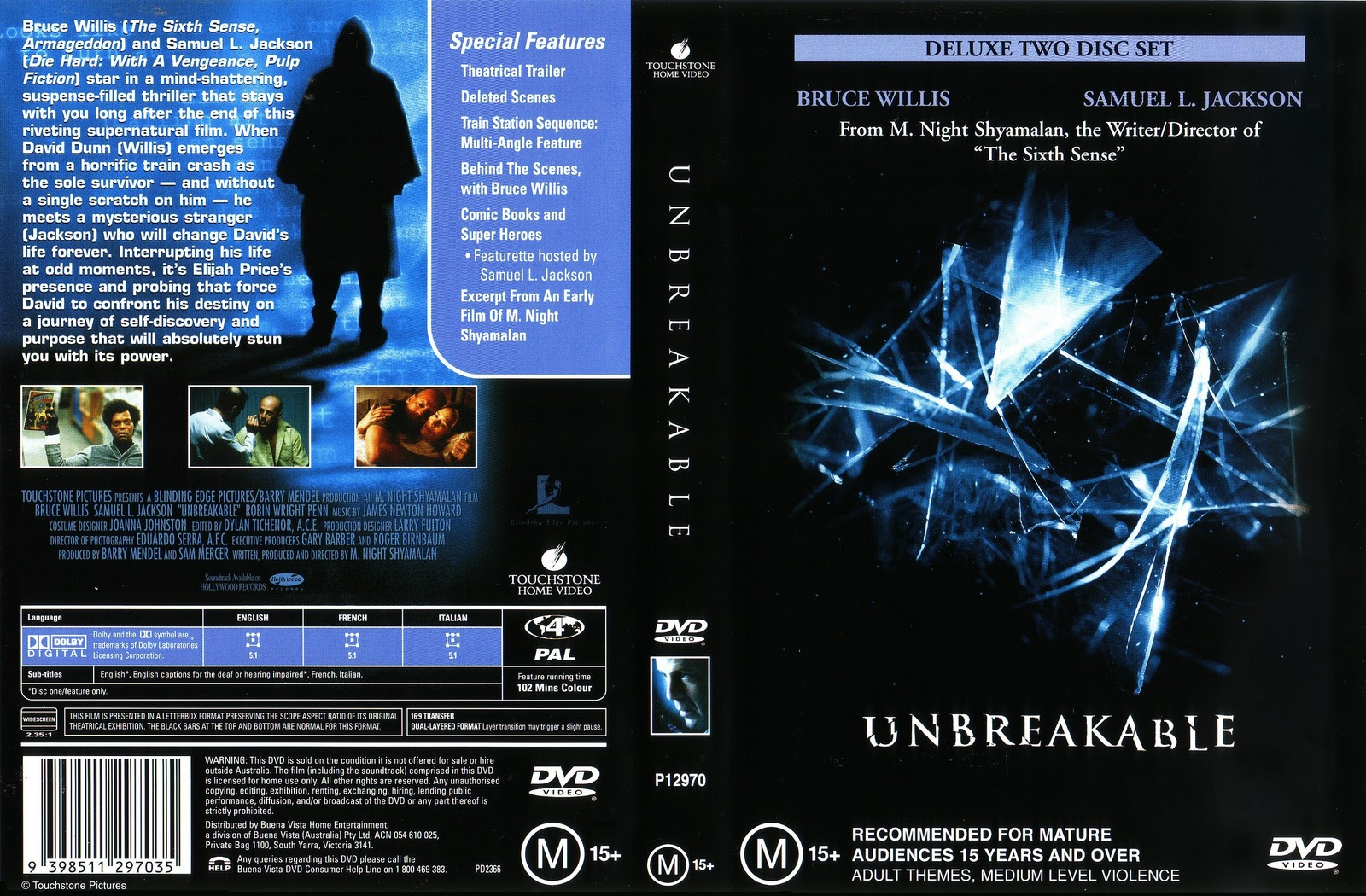 Movies Collection Unbreakable 2000