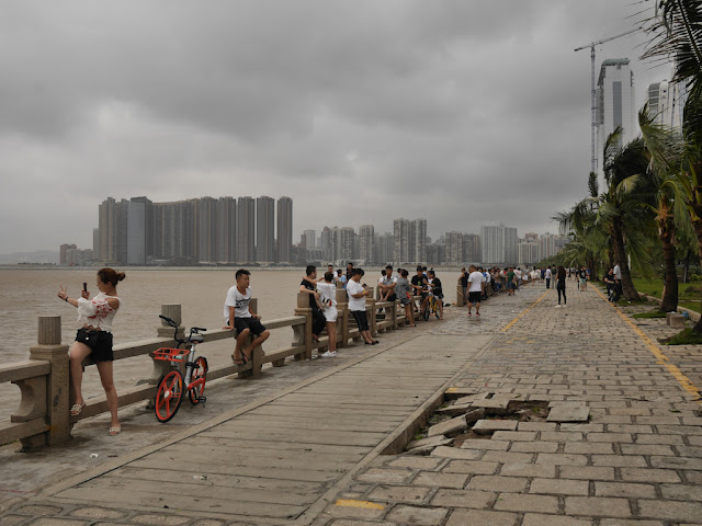damage at Lovers' Road in Zhuhai