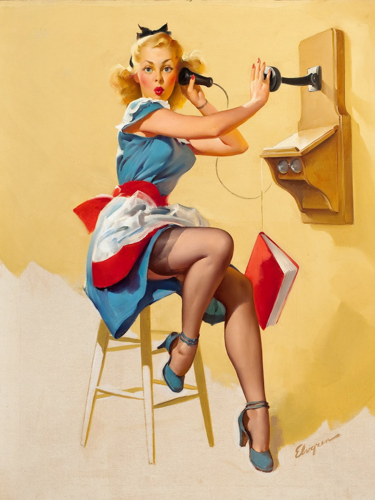 PinUp: Telephone and Girl. Part II