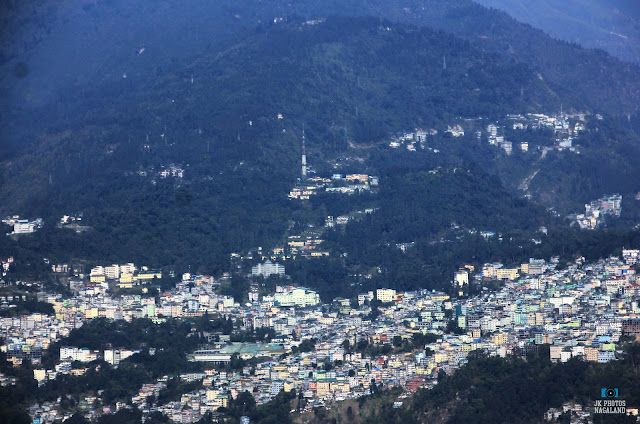 view of gangtok from rumtek monastery