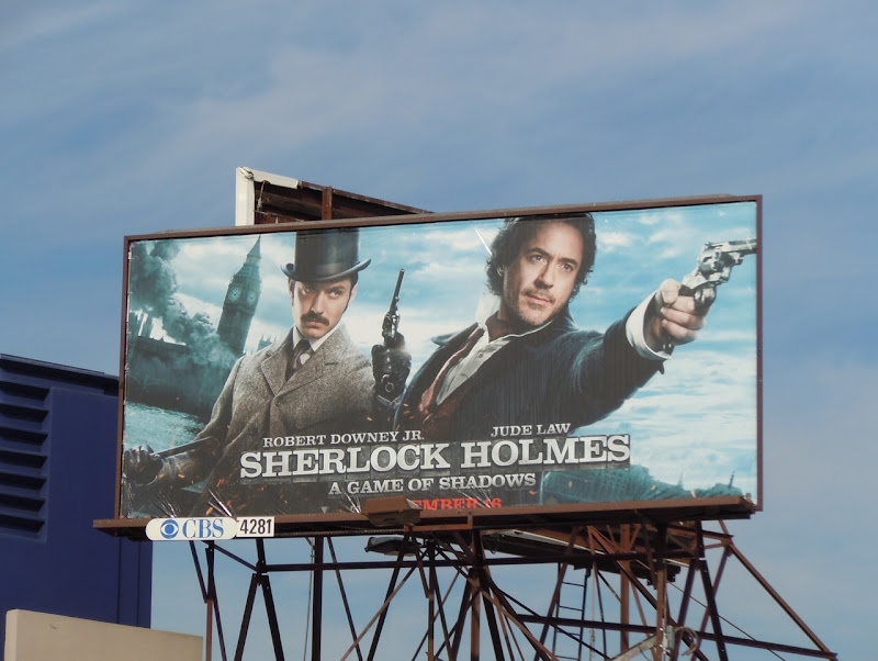 Sherlock Holmes Game of Shadows billboard