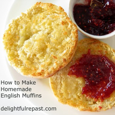 Homemade English Muffins / www.delightfulrepast.com