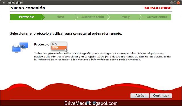 DriveMeca instalando NoMachine en Linux